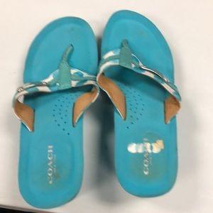 Coach sandals size 7.5
